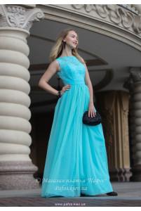 Голубое корсетное платье фото