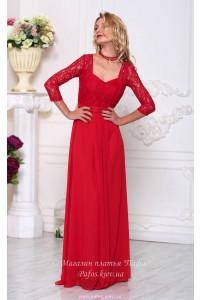 Красивое красное платье фото