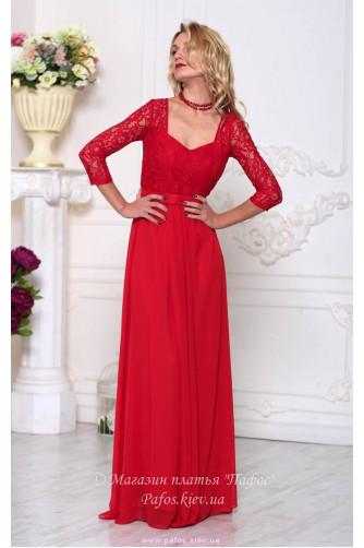 Красивое красное платье в Киеве - Фото 1