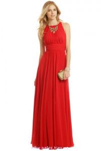 Красное платье шифоновое в пол фото