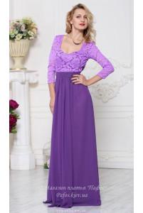 Фиолетовое платье с рукавом фото