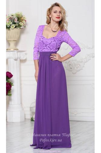 Фиолетовое платье с рукавом в Киеве - Фото 1