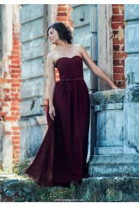 Корсетное платье марсала фото