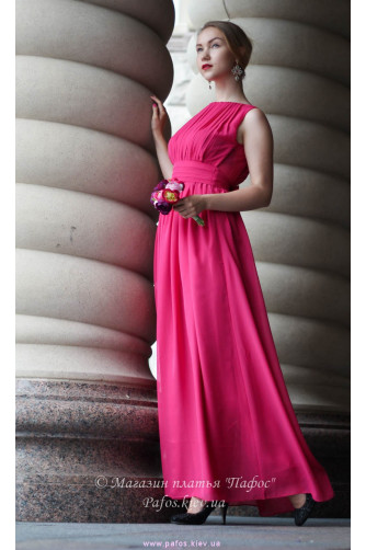 Малиновое платье в Киеве - Фото 1
