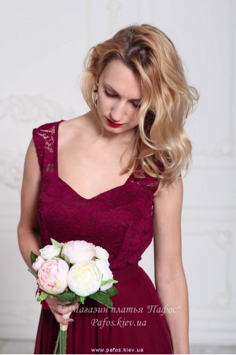 Модное платье марсала в Киеве - Фото 3