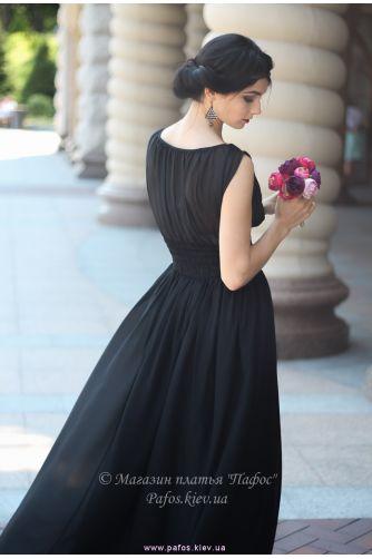 Черное длинное платье в Киеве - Фото 3
