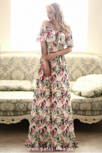 4bd9f78c78b Платье в цветочек. Купить длинное платье в Украине - Пафос