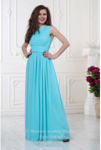 Небесное платье в пол фото