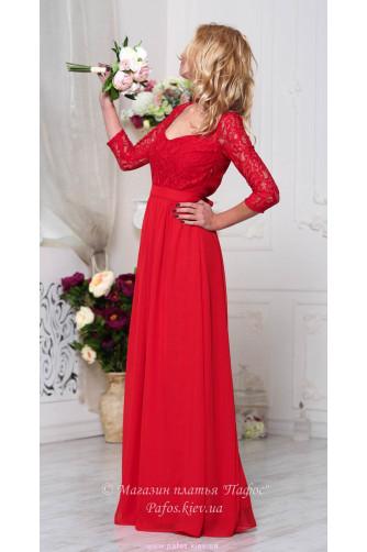 Красивое красное платье в Киеве - Фото 5