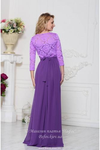Фиолетовое платье с рукавом в Киеве - Фото 3