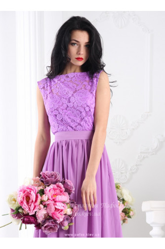 Сиреневое платье в пол в Киеве - Фото 2