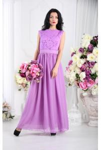 Сиреневое платье в пол фото