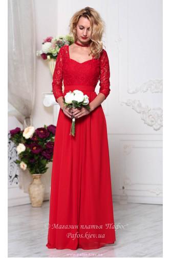 Красивое красное платье в Киеве - Фото 4