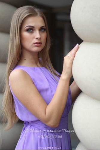 Сиреневое платье в греческом стиле в Киеве - Фото 6