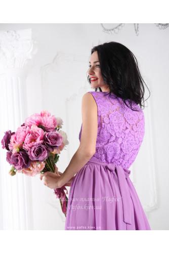 Сиреневое платье в пол в Киеве - Фото 3