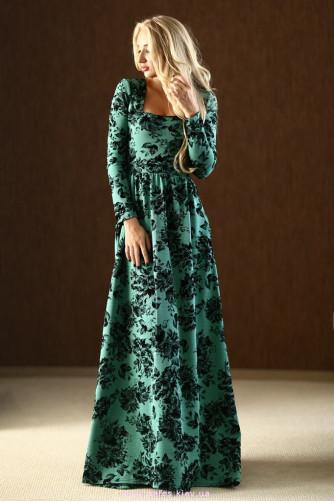5f9c7bff718c301 Теплое платье в цветы. Купить платье в пол в Украине в интернет ...