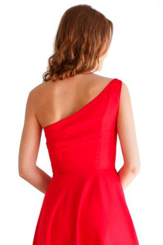 Красное вечернее платье на одно плечо в Киеве - Фото 3