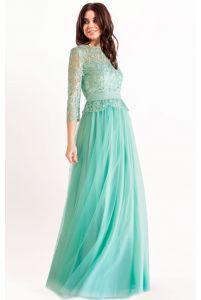 Вечернее платье шалфей фото