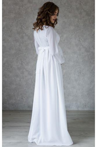 Белое платье в пол для беременных в Киеве - Фото 3
