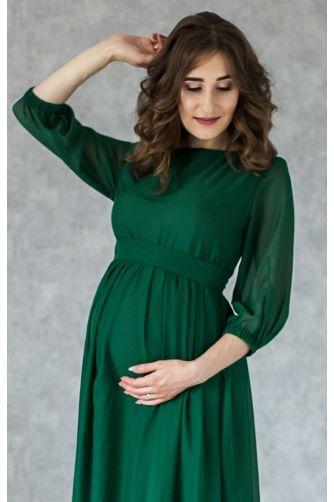 Элегантное платье для беременных изумруд в Киеве - Фото 2
