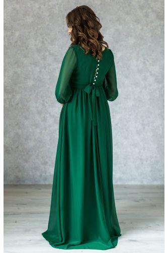 Элегантное платье для беременных изумруд в Киеве - Фото 3