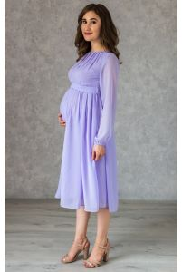 Коктейльное платье для беременных лаванда фото