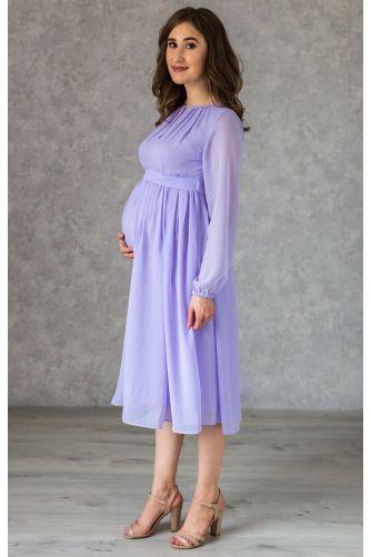 Коктейльное платье для беременных лаванда в Киеве - Фото 1