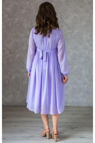 Коктейльное платье для беременных лаванда в Киеве - Фото 3