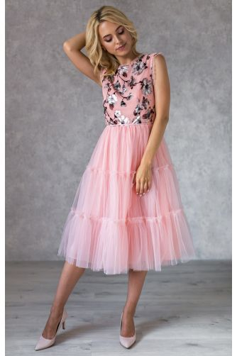 Коктейльное платье с цветочным принтом и бантиками в Киеве - Фото 3