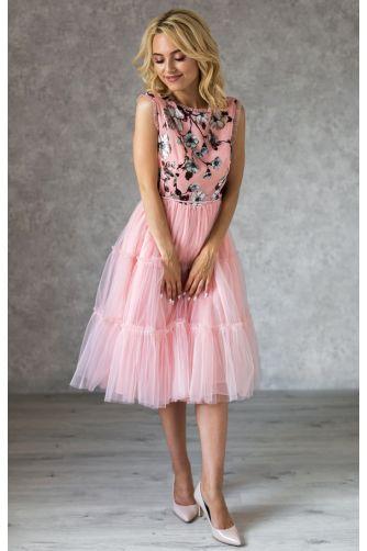 Коктейльное платье с цветочным принтом и бантиками в Киеве - Фото 1