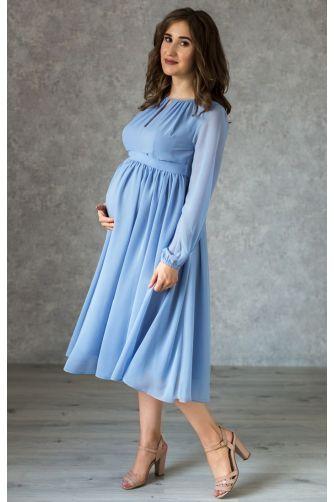 Коктейльное платье для беременных голубое в Киеве - Фото 1