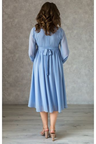 Коктейльное платье для беременных голубое в Киеве - Фото 3
