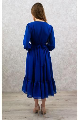 Коктейльное платье с пуговичками синее в Киеве - Фото 2