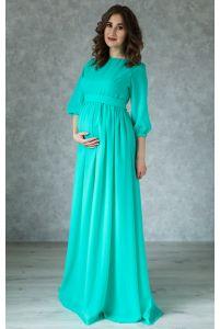 Нежное платье для беременных цвета мята фото