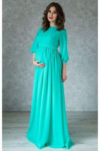 Нежное платье для беременных цвета мята в Киеве - Фото 1