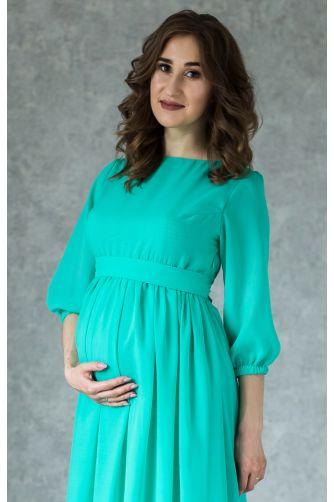 Нежное платье для беременных цвета мята в Киеве - Фото 2
