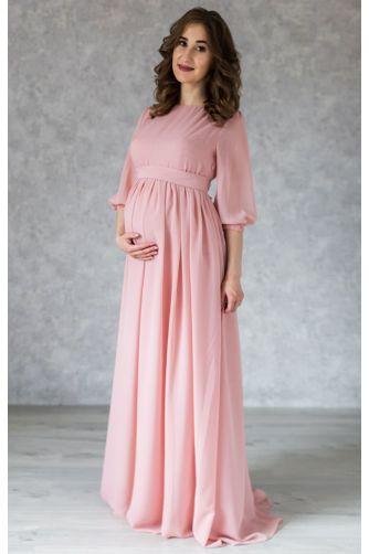Нежное платье для беременных цвета пудры в Киеве - Фото 1