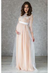 Нежное свадебное платье для беременных фото