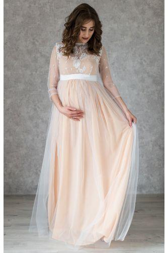 Нежное свадебное платье для беременных в Киеве - Фото 2