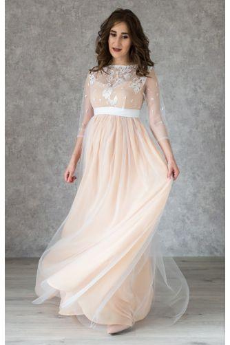 Нежное свадебное платье для беременных в Киеве - Фото 3