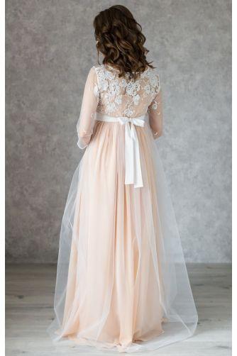 Нежное свадебное платье для беременных в Киеве - Фото 5