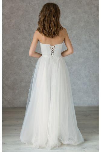 Нежное свадебное платье с камушками в Киеве - Фото 4