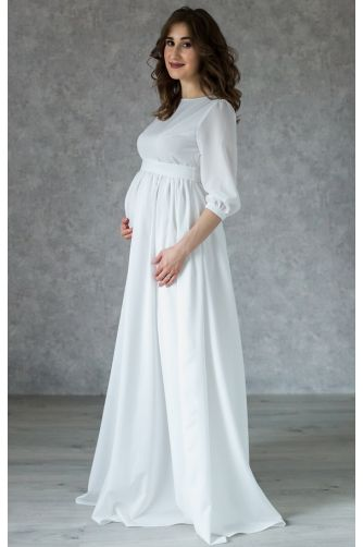 Платье на роспись для беременных с пуговками в Киеве - Фото 2