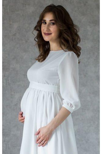 Платье на роспись для беременных с пуговками в Киеве - Фото 3