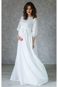 Платье на роспись для беременных с пуговками фото