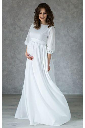 Платье на роспись для беременных с пуговками в Киеве - Фото 1