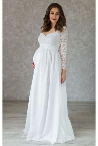 Платье на роспись для беременных с рукавом 3/4 фото