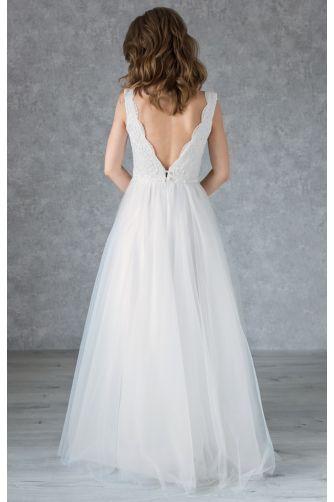Платье свадебное с фигурным декольте в Киеве - Фото 3