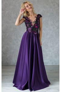 Шикарное вечернее платье с лифом в пайетках фото