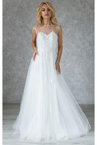 Свадебное платье с бисером фото